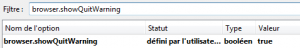 Warning fermeture firefox about config