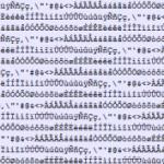 Art ascii lettre caractère accentué