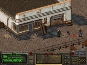 Batiment hopital dans le jeu Fallout.