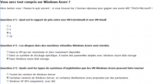 Windows Azur Solution Quiz Iaas