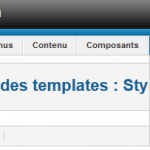 Joomla Menu Gestion Template