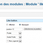 Joomla gestion position module like facebook
