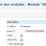 Joomla gestion position module like facebook