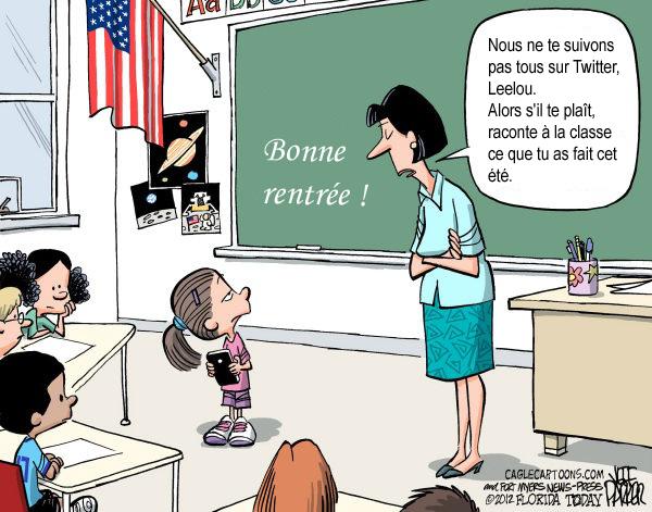 Rentrée des classes humoristique