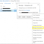 Sharepoint manage subscription
