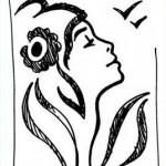 dessin preparatoire timbre marianne lamouche