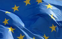 Le drapeau européen. Europe bleu étoilée