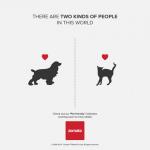 Deux sortes de gens chien et chat