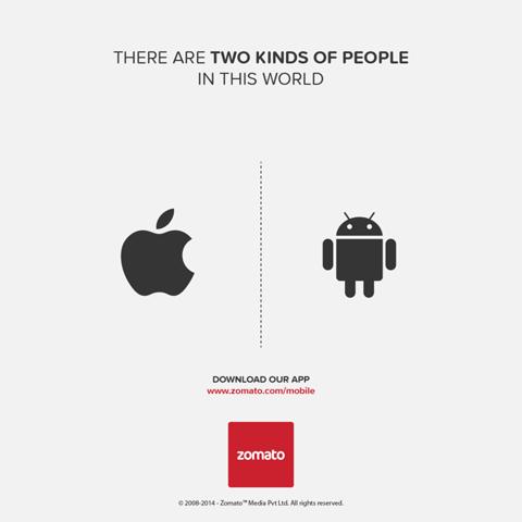 Deux sortes de gens les pros iphone et les pros android