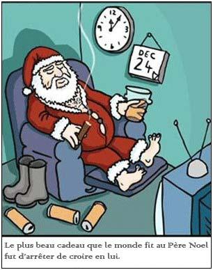 Le Pere Noel en retraite ou au chomage.