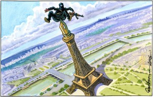 Dave Brown liberté Expression Tour Eiffel Paris Charlie Terroriste