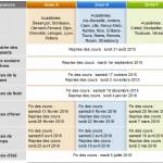 Dates vacances scolaires 2015 - 2016