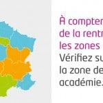 Répartition des zones pour les vacances scolaires