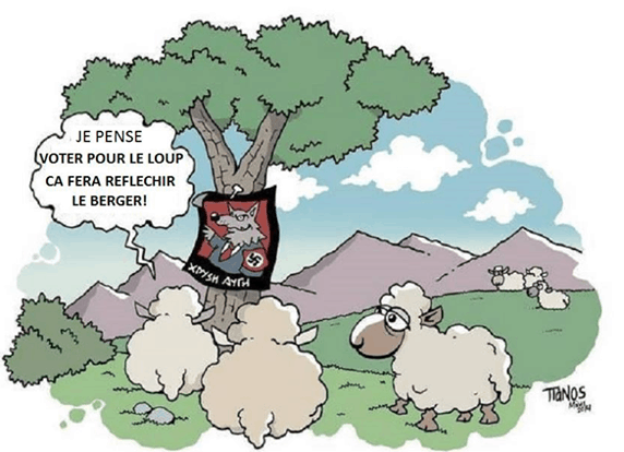 mouton loup nazi election tianos